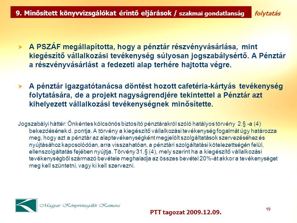 19 PTT tagozat 2009.12.09.