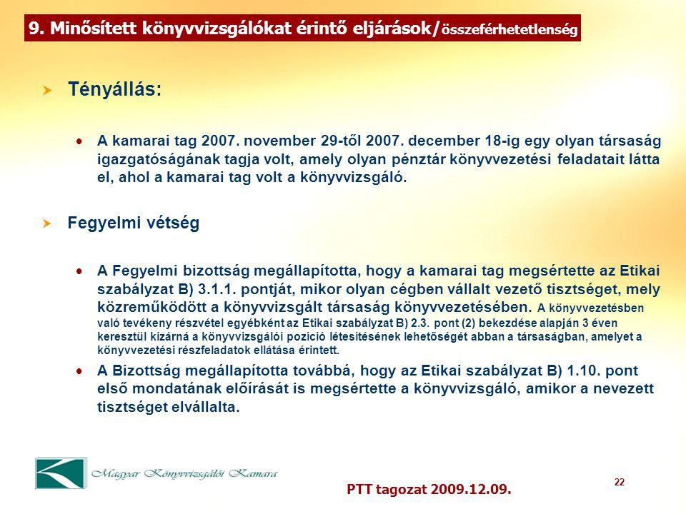 22 PTT tagozat 2009.12.09. 9.