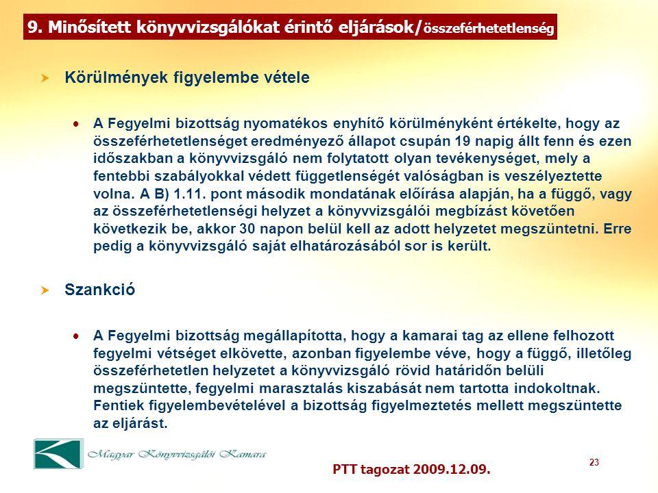 23 PTT tagozat 2009.12.09. 9.