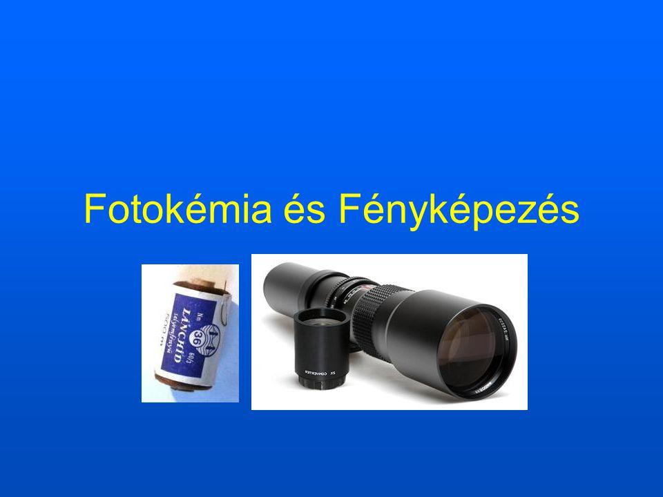 Fotokémia A fotokémia a fény hatására lejátszódó kémiai folyamatokkal, illetve a kémiai folyamatokat kísérő nem termikus gerjesztésű fényjelenségekkel foglalkozó területe.