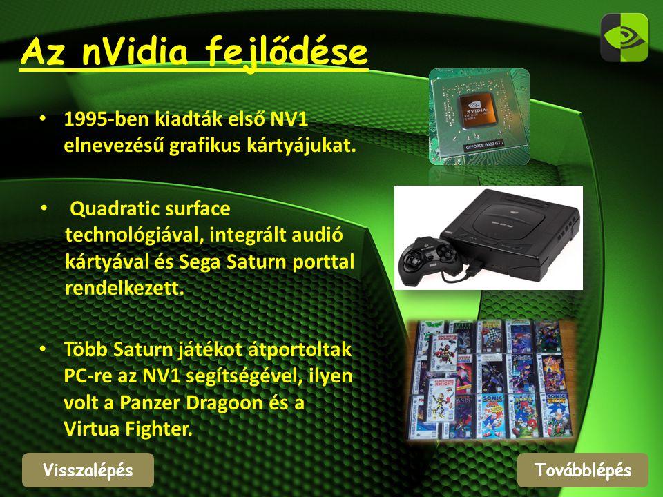 Az nVidia fejlődése 1995-ben kiadták első NV1 elnevezésű grafikus kártyájukat.
