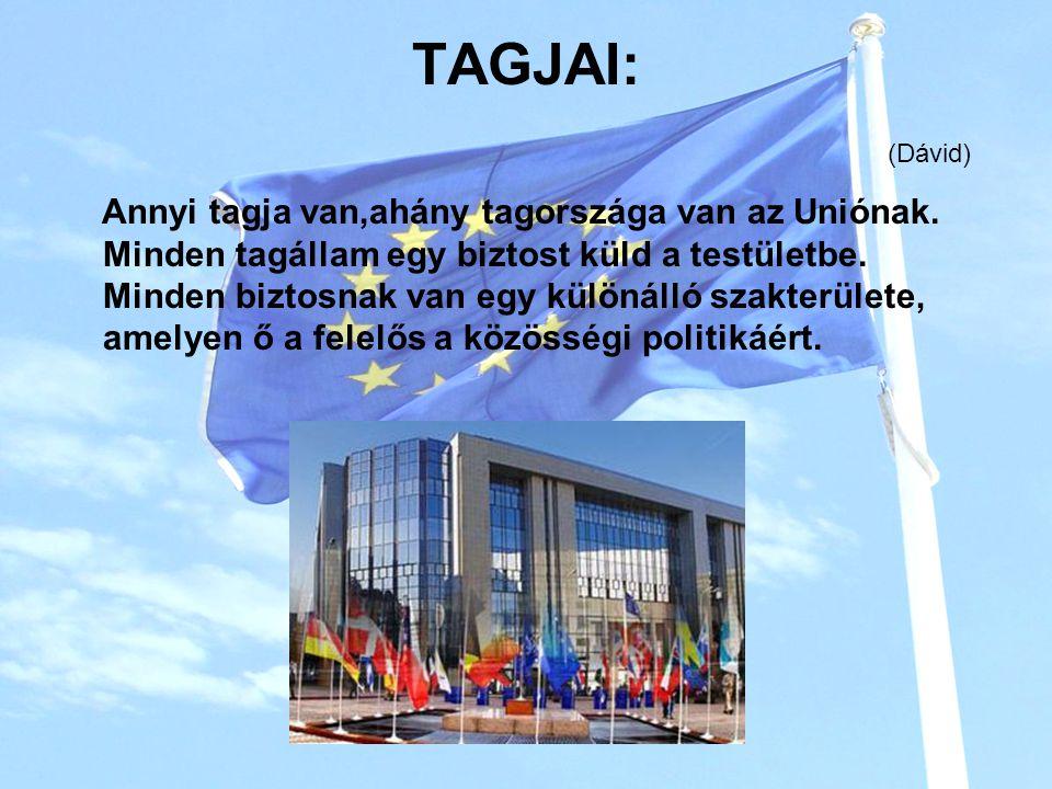 TAGJAI: Annyi tagja van,ahány tagországa van az Uniónak.