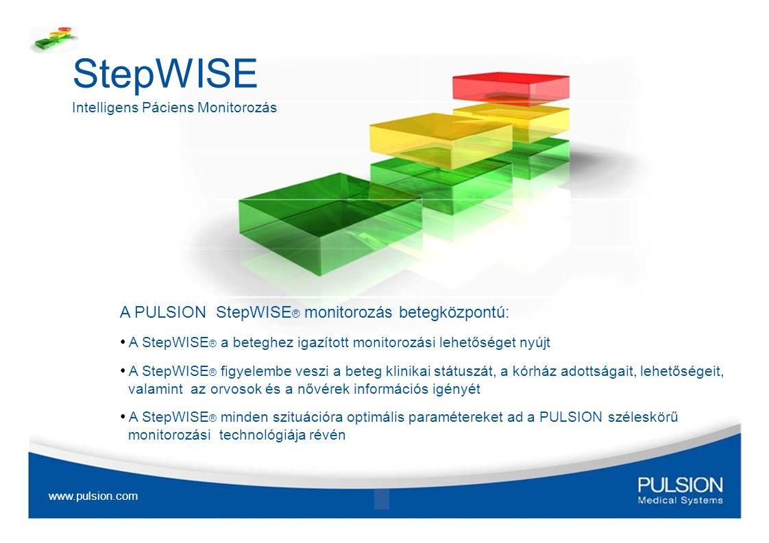 StepWISE Intelligens Páciens Monitorozás A PULSION StepWISE ® monitorozás betegközpontú: A StepWISE ® a beteghez igazított monitorozási lehetőséget ny