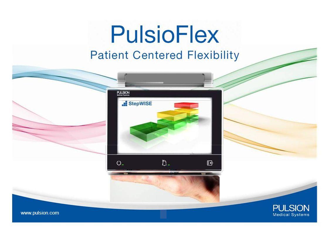 A legmagasabb szintű technológia megkönnyíti a munkát: Könnyű kezelhetőség kis méret ( 8 érintőképernyő) és könnyű súly rugalmas elhelyezhetőség Bővíthető modulrendszer Automatikus modul felismerés csatlakoztatható a kórházi hálózatokhoz ( HL7 protokoll) www.pulsion.com 5 fekete képernyő – nincs tükröződés