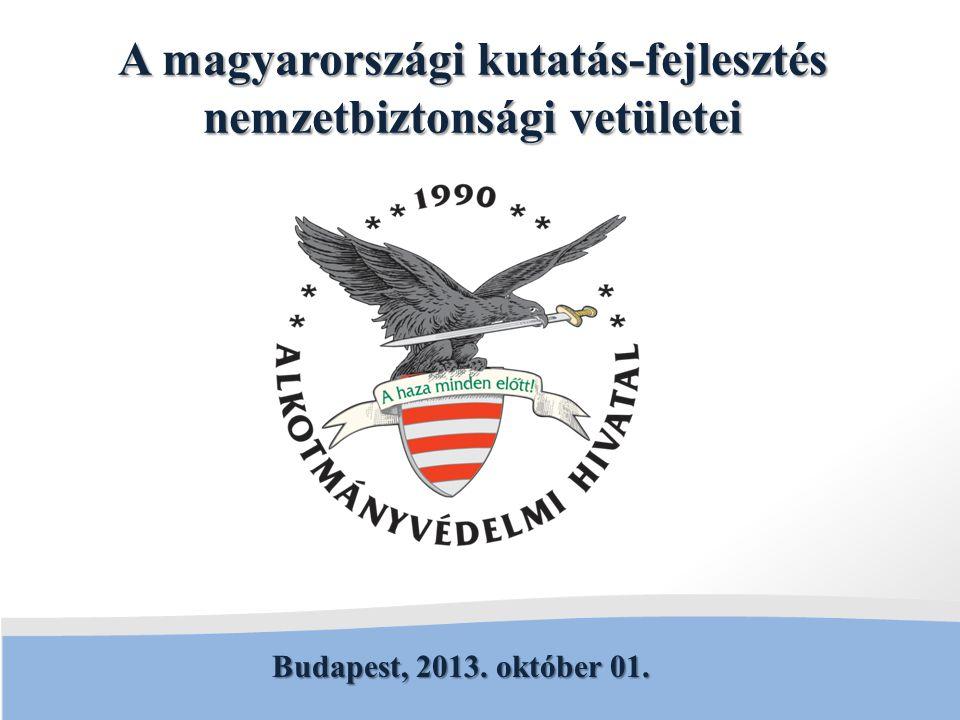 Budapest, 2013. október 01. A magyarországi kutatás-fejlesztés nemzetbiztonsági vetületei
