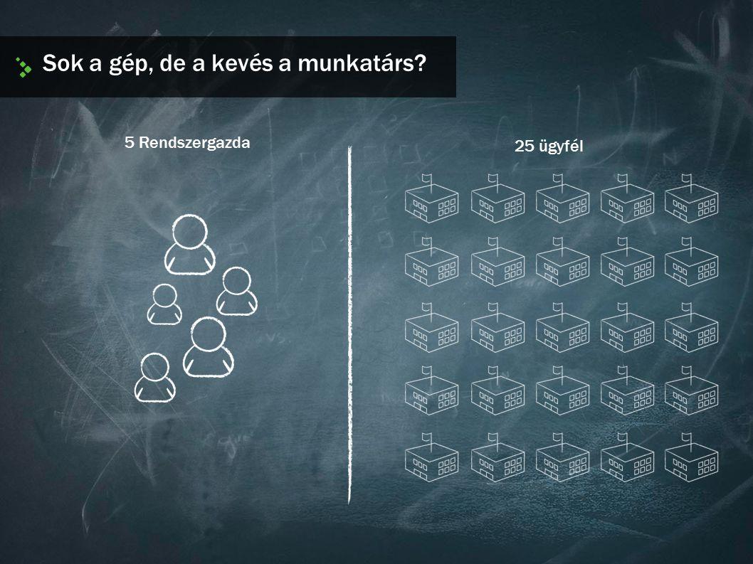 Sok a gép, de a kevés a munkatárs? 25 ügyfél 5 Rendszergazda
