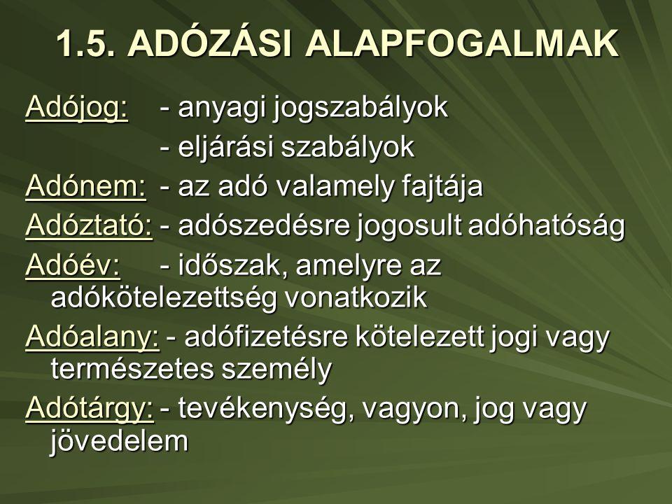 1.5.ADÓZÁSI ALAPFOGALMAK 2.