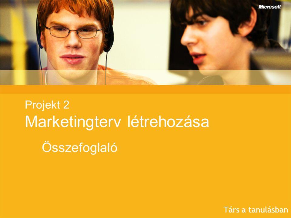 Projekt 2 Marketingterv létrehozása Összefoglaló