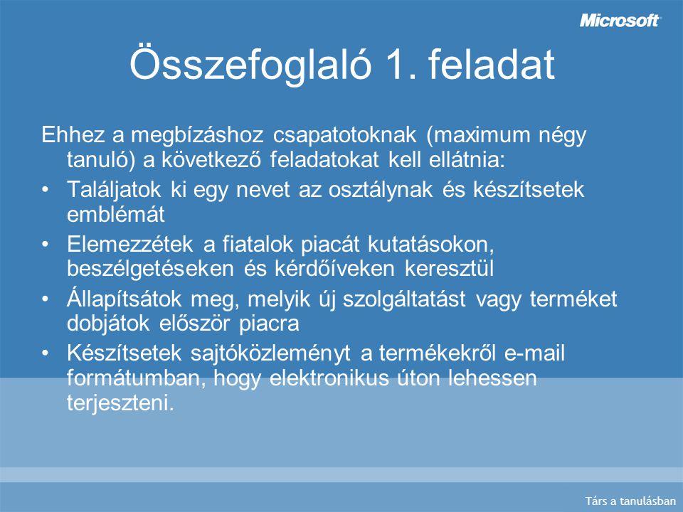 Társ a tanulásban Összefoglaló 2.