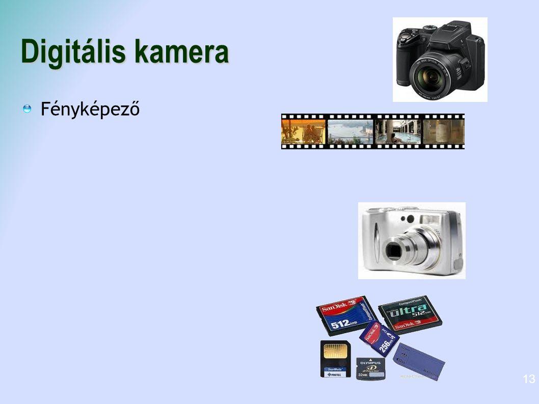 Digitális kamera Fényképező 13
