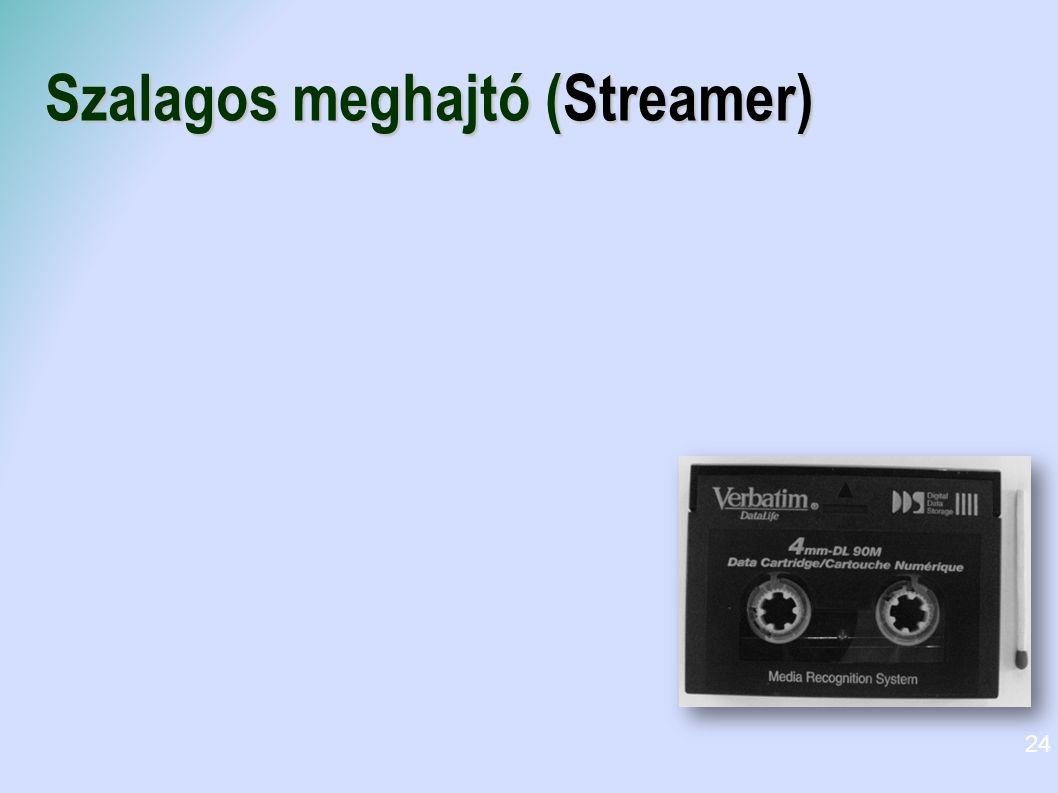 Szalagos meghajtó (Streamer) 24