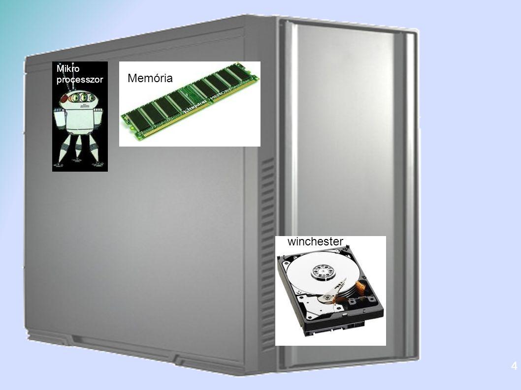 A CPU - Mikroprocesszor Központi Feldolgozó Egység Jellemzői Sebesség Hz (2-4 GHz) Főbb gyártók: Intel AMD Több magos: 2-4 végrehajtó magot tartalmaz -> párhuzamos működés 5