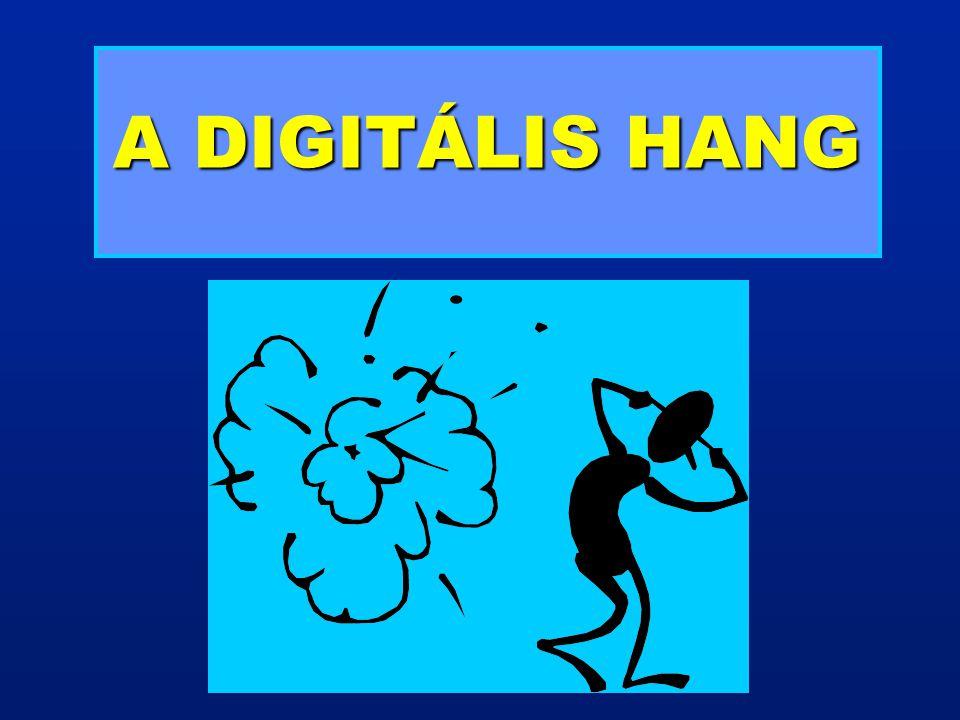 A DIGITÁLIS JEL JELLEMZŐI A digitális jel impulzusok sorozatából áll, szemben az analóg jel időben folytonos jellegével.