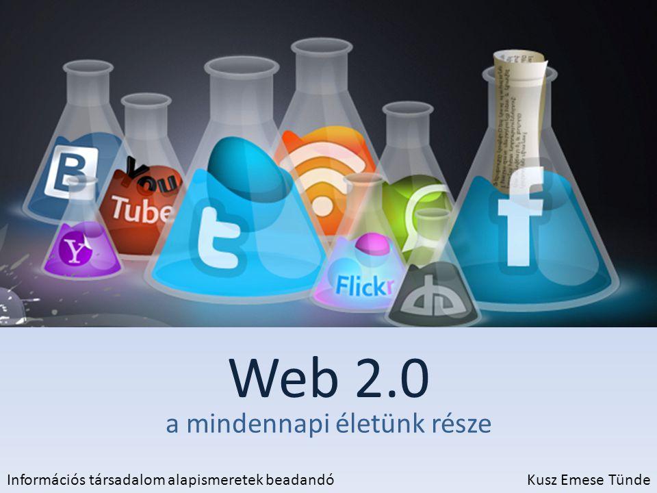 Web 2.0 a mindennapi életünk része Információs társadalom alapismeretek beadandóKusz Emese Tünde