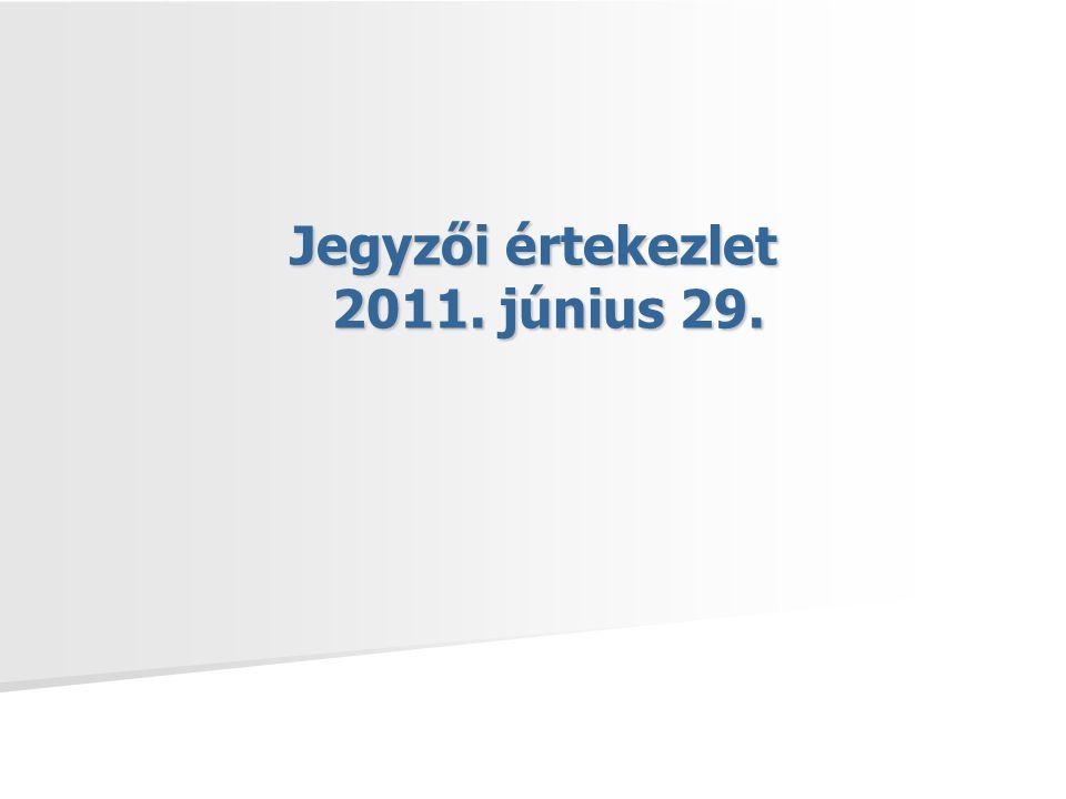 Jegyzői értekezlet 2011 június 29.A jogszabályok társadalmi előkészítése 2011.