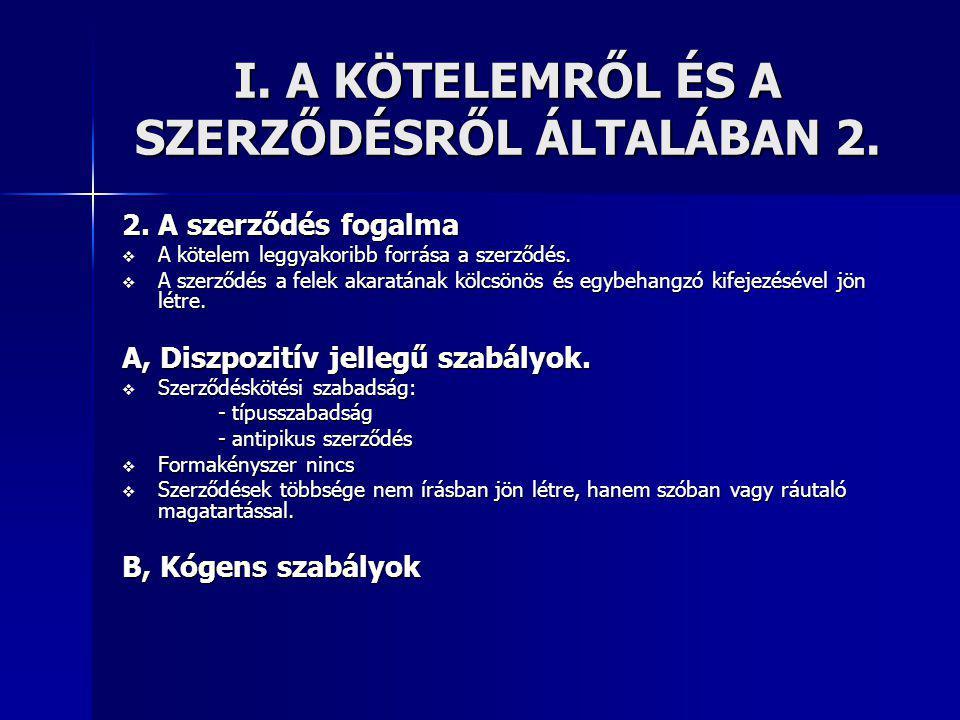 VI.Felelősség a szerződésen kívül 2. 2.