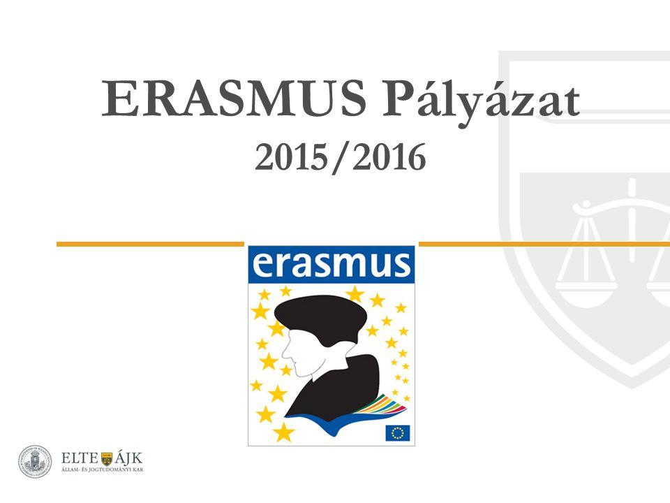 ERASMUS Pályázat 2015/2016