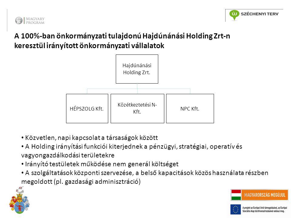 A 100%-ban önkormányzati tulajdonú Hajdúnánási Holding Zrt-n keresztül irányított önkormányzati vállalatok Hajdúnánási Holding Zrt.