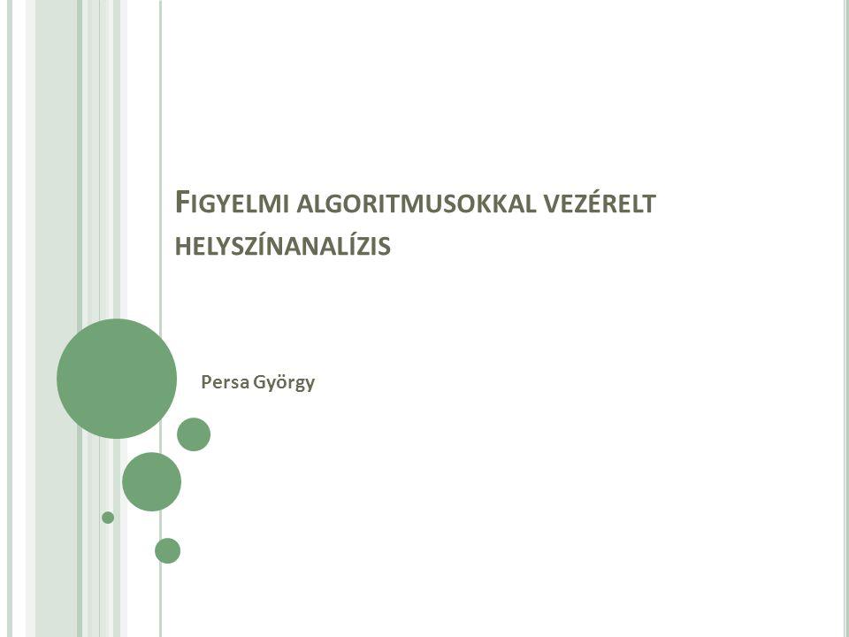 F IGYELMI ALGORITMUSOKKAL VEZÉRELT HELYSZÍNANALÍZIS Persa György