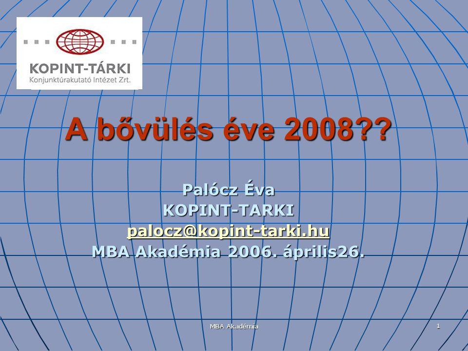 MBA Akadémia 2 Tartalom A magyar reálgazdaság relatív pozíciója a visegrádi térségben 2000-tól napjainkig; A magyar reálgazdaság relatív pozíciója a visegrádi térségben 2000-tól napjainkig; A magyar gazdaságpolitikai peremfeltételek a többi visegrádi országgal összehasonlítva; A magyar gazdaságpolitikai peremfeltételek a többi visegrádi országgal összehasonlítva; Növekedés és egyensúly; Növekedés és egyensúly; Következtetések?.