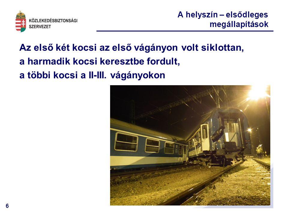17 Új információ.A mozdonyvezető korábban elmondta, hogy az állomás előtt kb.
