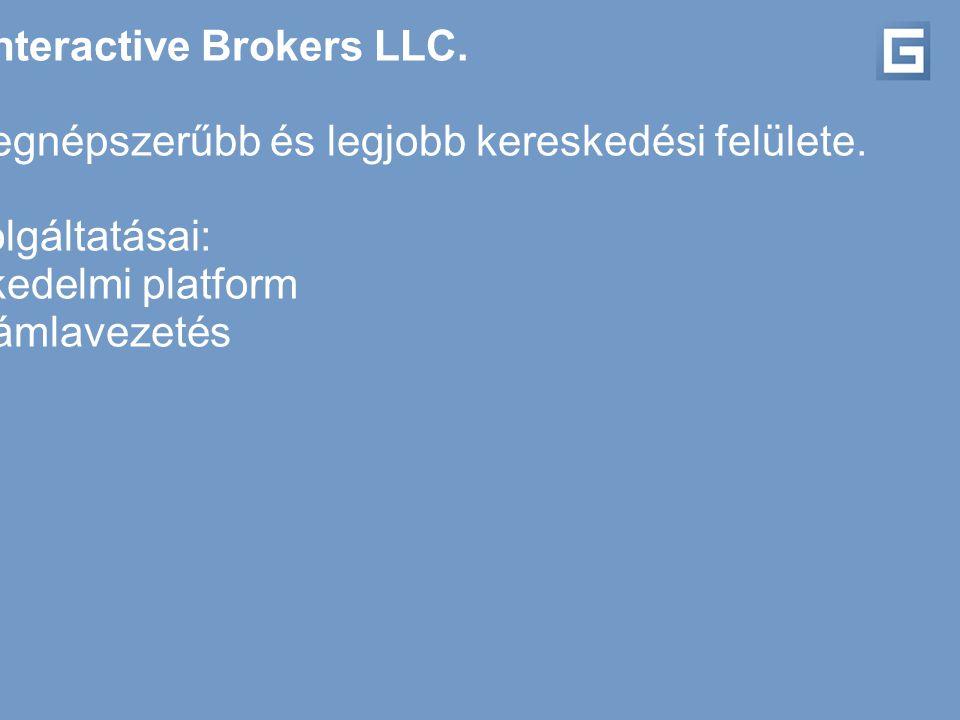 Partnerünk az Interactive Brokers LLC. Az Interactive Brokers az USA egyik legnépszerűbb és legjobb kereskedési felülete. Szolgáltatásai: - kereskedel