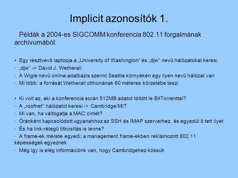 Implicit azonosítók 1.