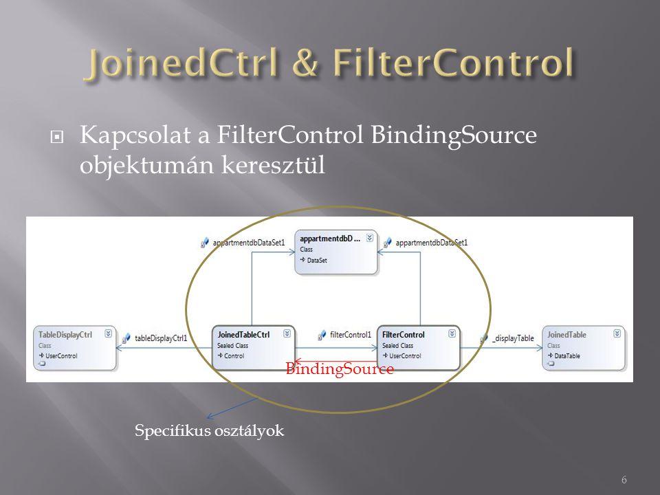  Adatkapcsolatok beállítása  TableDisplayCtrl inicializálása (lásd: előző ea)  Külső adatforrások beállítása (lásd: előző ea)  Megjelenítés és viselkedés megadása 7