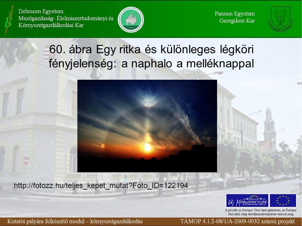 60. ábra Egy ritka és különleges légköri fényjelenség: a naphalo a melléknappal http://fotozz.hu/teljes_kepet_mutat?Foto_ID=122194