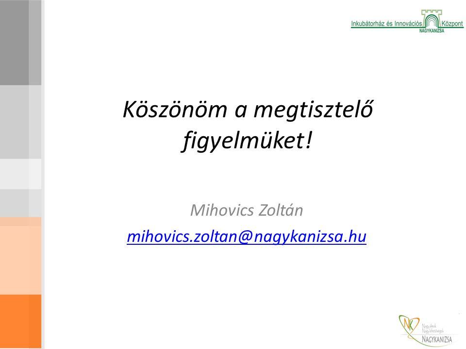 Köszönöm a megtisztelő figyelmüket! Mihovics Zoltán mihovics.zoltan@nagykanizsa.hu