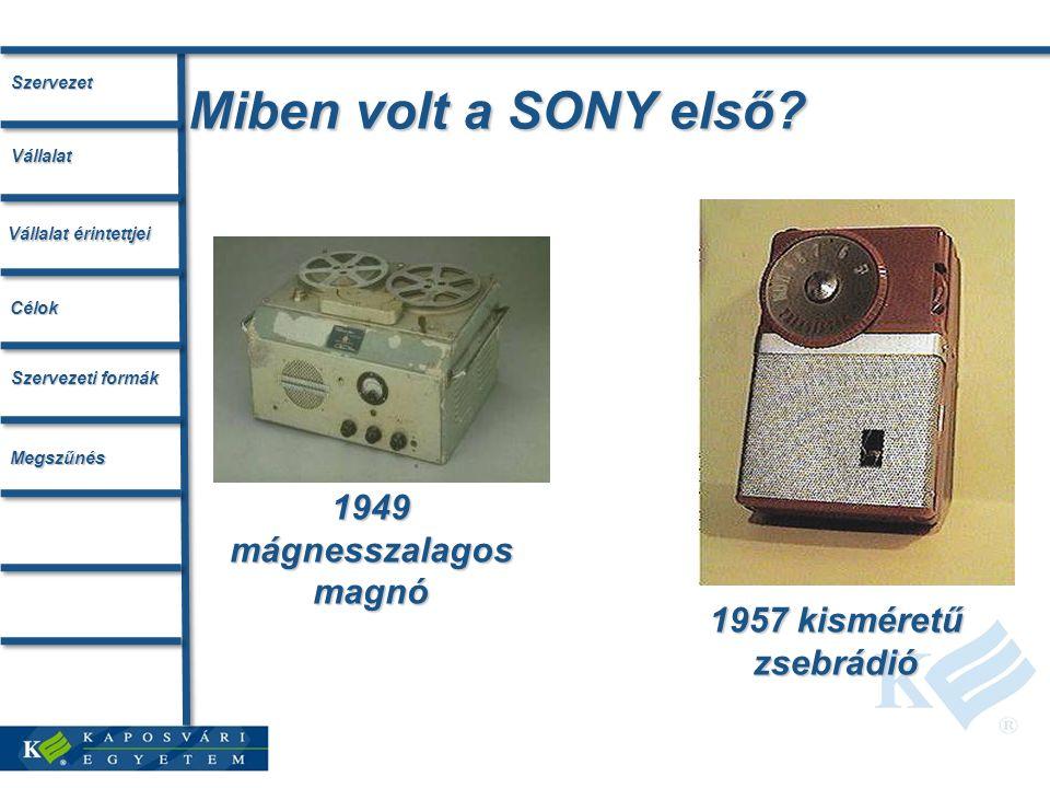 Miben volt a SONY első.
