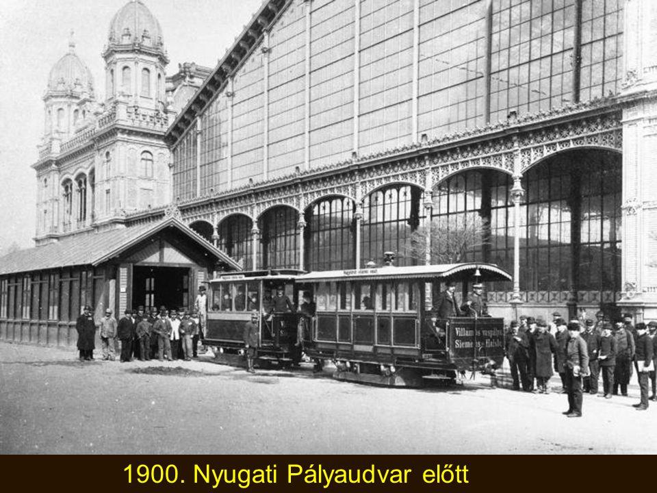 1896. augusztus. A Vámháztéri híd, azaz Ferenc József híd (későbbi Szabadság híd) elkészült a Milleniumra.