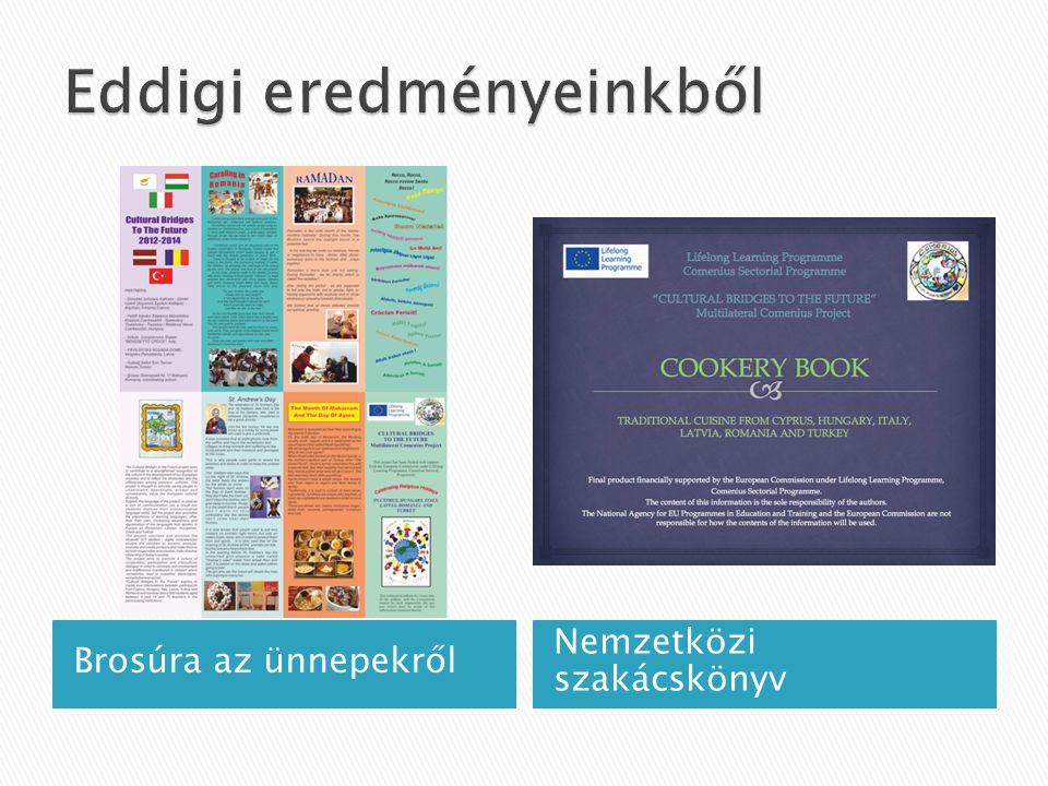 Brosúra az ünnepekről Nemzetközi szakácskönyv