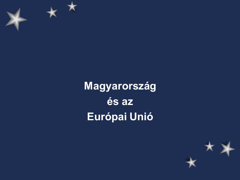 A csatlakozáshoz vezető út 1968 - első hivatalos kapcsolatok (árgarancia- megállapodás) 1970-es évek – 3 multilaterális keret: –GATT –Európai Biztonsági és Együttműködési Értekezlet –KGST + EK párbeszéd → eredménytelen 1982-1984 – bizalmas magyar kezdeményezések kétoldalú megállapodásra 1986 – EP határozat → átfogó kereskedelmi megállapodás