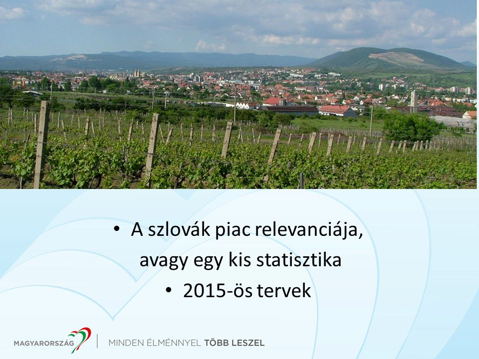 A szlovák piac relevanciája, avagy egy kis statisztika 2015-ös tervek