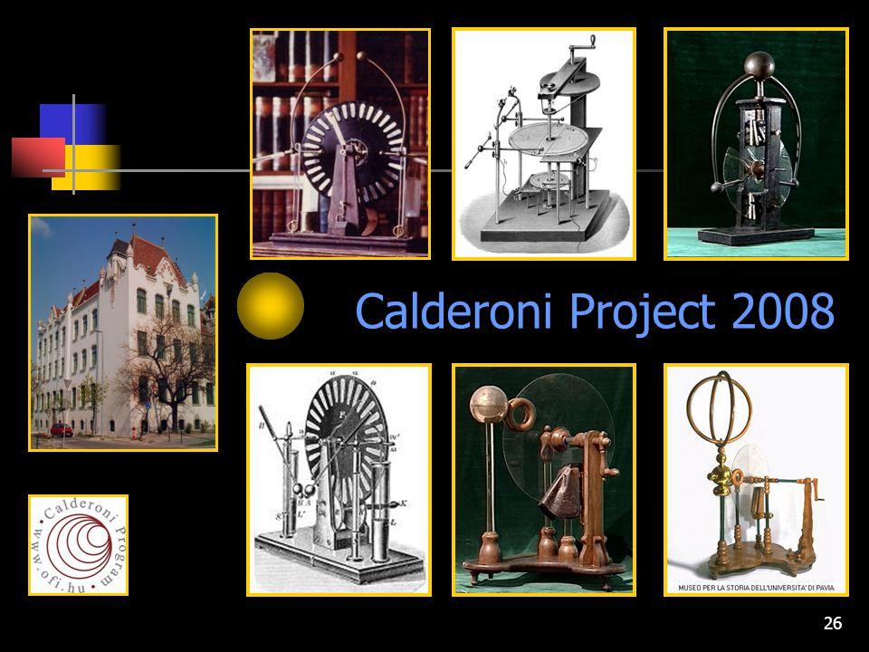 26 Calderoni Project 2008
