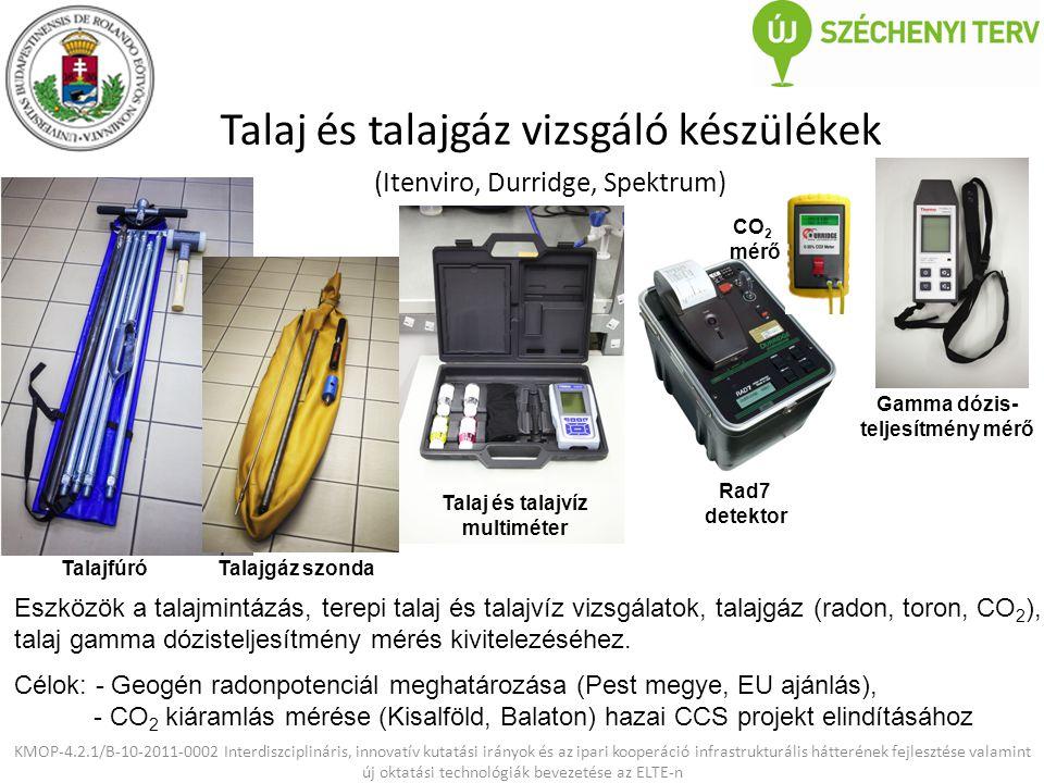 KMOP-4.2.1/B-10-2011-0002 Interdiszciplináris, innovatív kutatási irányok és az ipari kooperáció infrastrukturális hátterének fejlesztése valamint új oktatási technológiák bevezetése az ELTE-n Katódlumineszcens mikroszkóp (cl-detektor) (Gatan) Pásztázó elektron- mikroszkóphoz Lumineszcenciát okozó rácshibák, diszlokációk, nyomelemek kimutatása ásványokban.