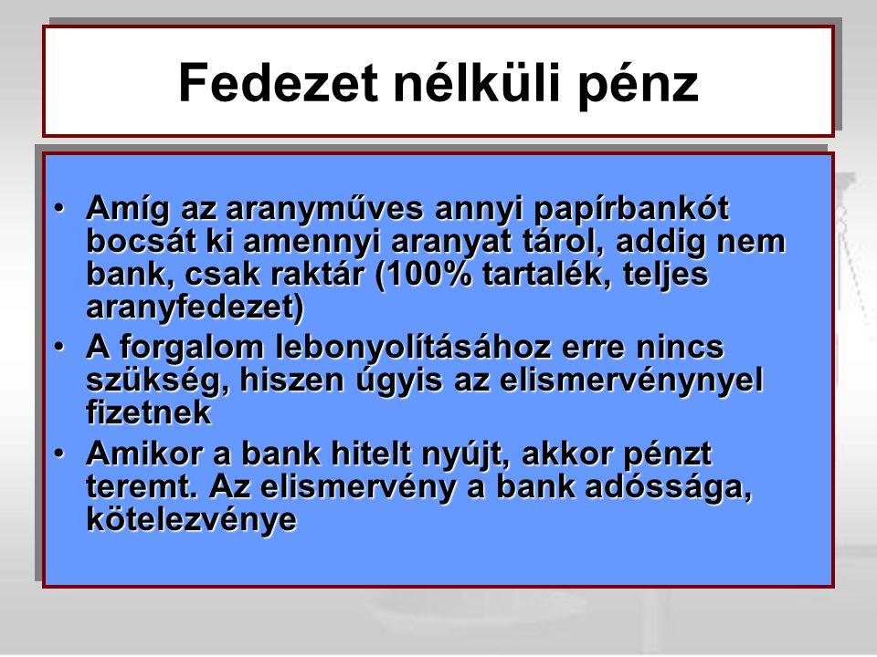 1987 óta: Kétszintű bankrendszer1987 óta: Kétszintű bankrendszer –1.