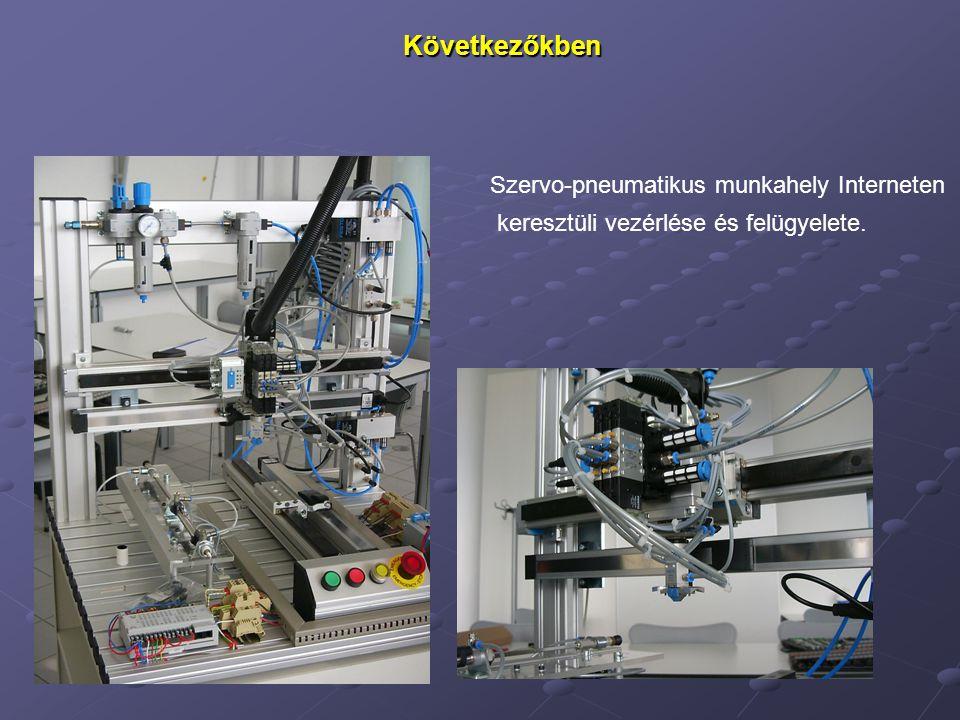 Következőkben Szervo-pneumatikus munkahely Interneten keresztüli vezérlése és felügyelete.