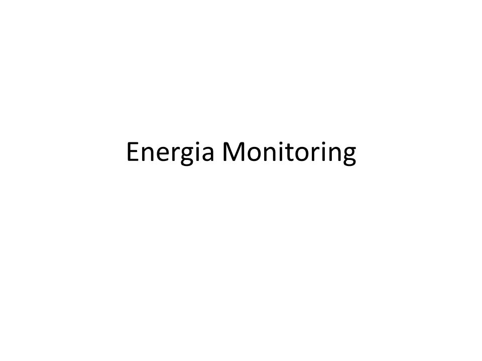 Energia Monitoring