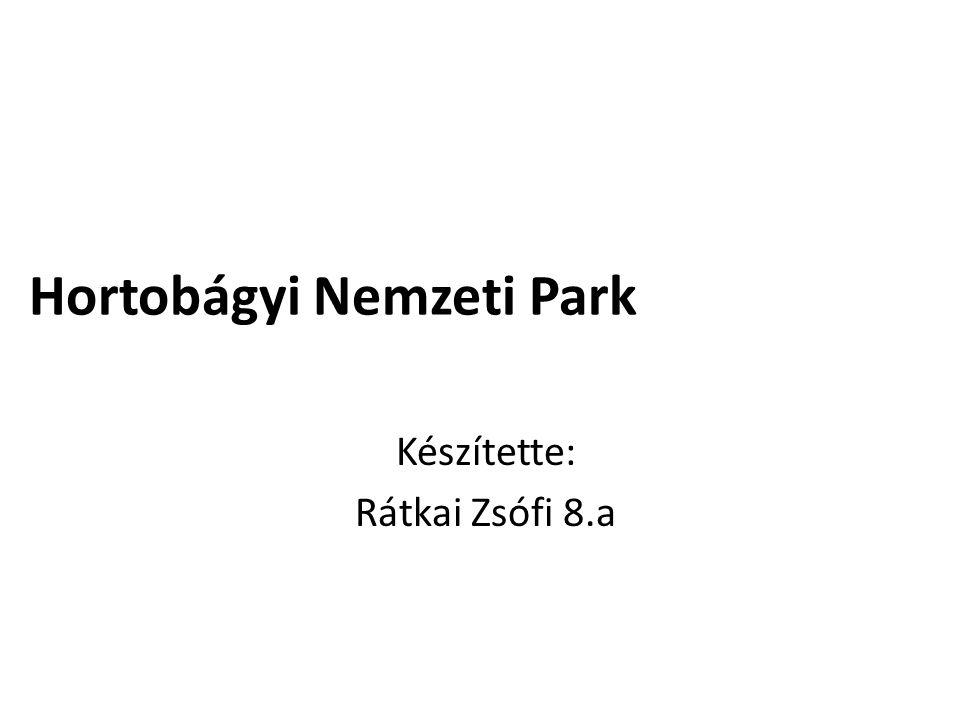 Hortobágyi Nemzeti Park Készítette: Rátkai Zsófi 8.a