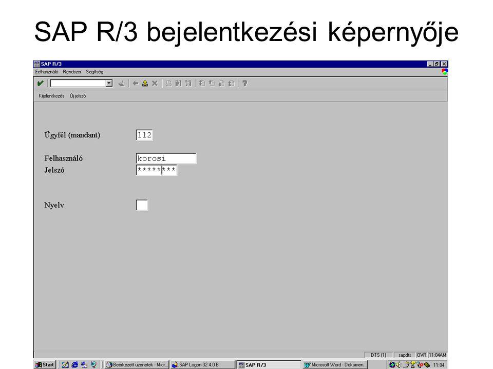 SAP R/3 bejelentkezési képernyője