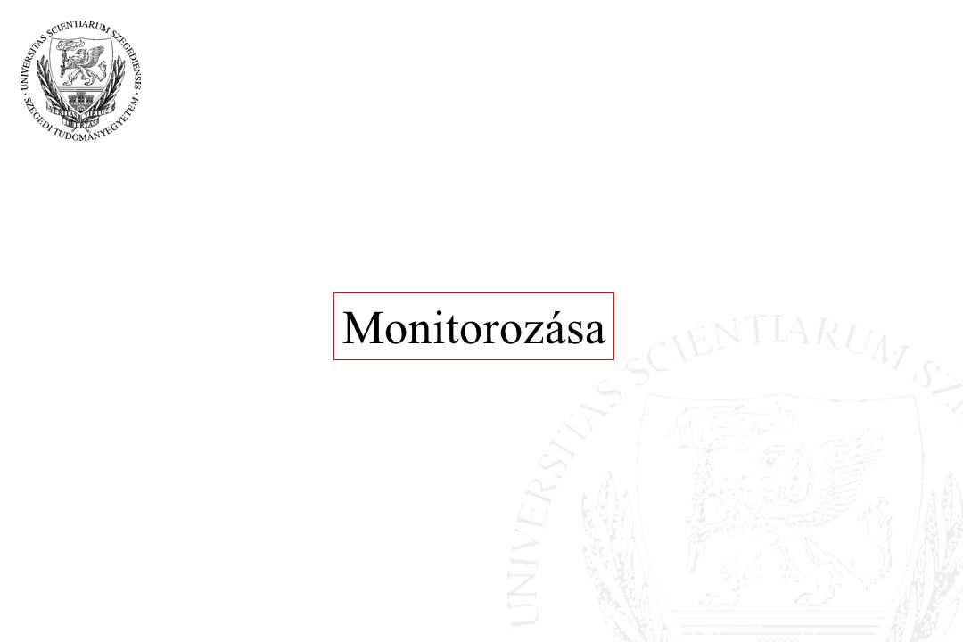 Monitorozása