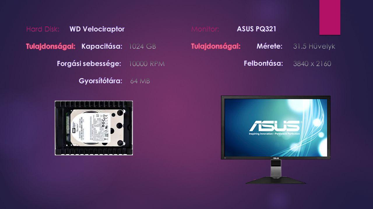 Hard Disk: Monitor: