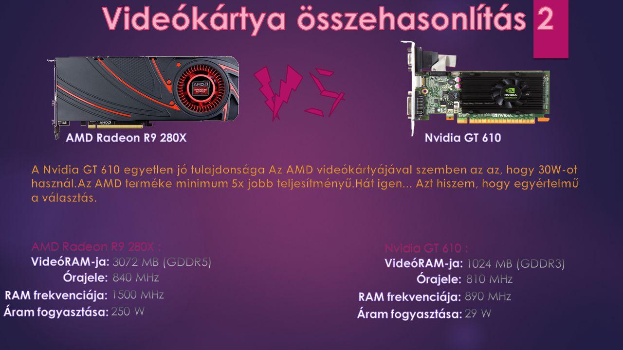 AMD Radeon R9 280X : Nvidia GT 610 :