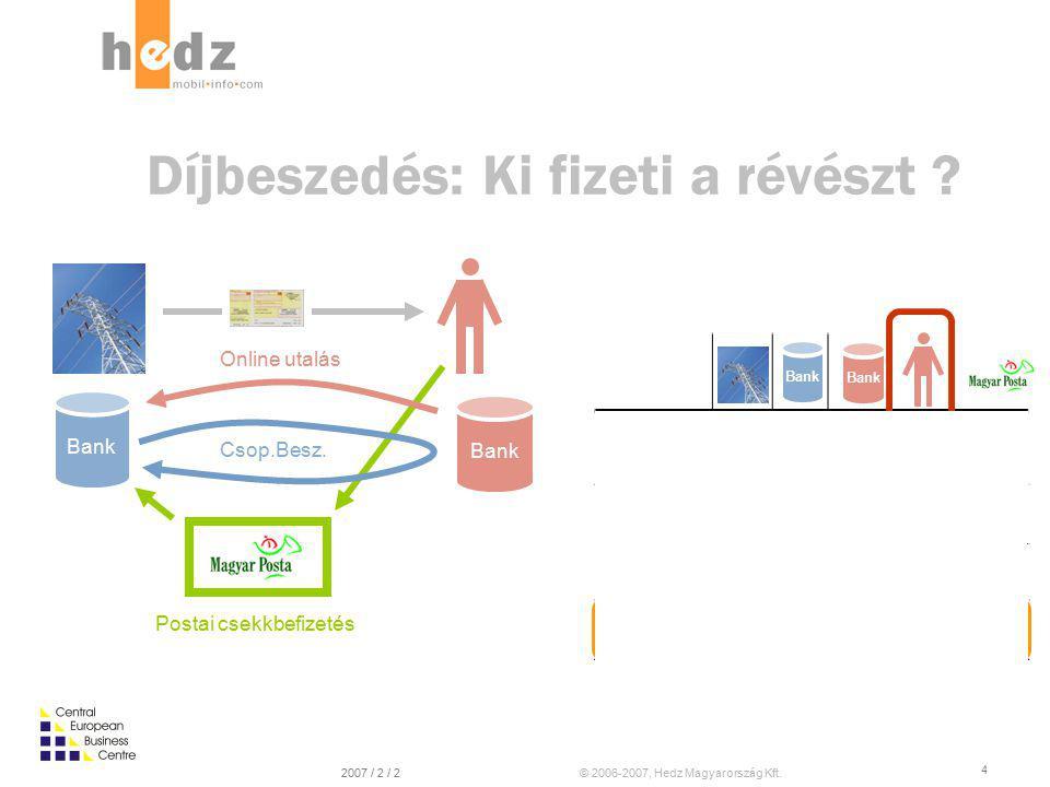 © 2006-2007, Hedz Magyarország Kft.2007 / 2 / 2 4 Díjbeszedés: Ki fizeti a révészt .