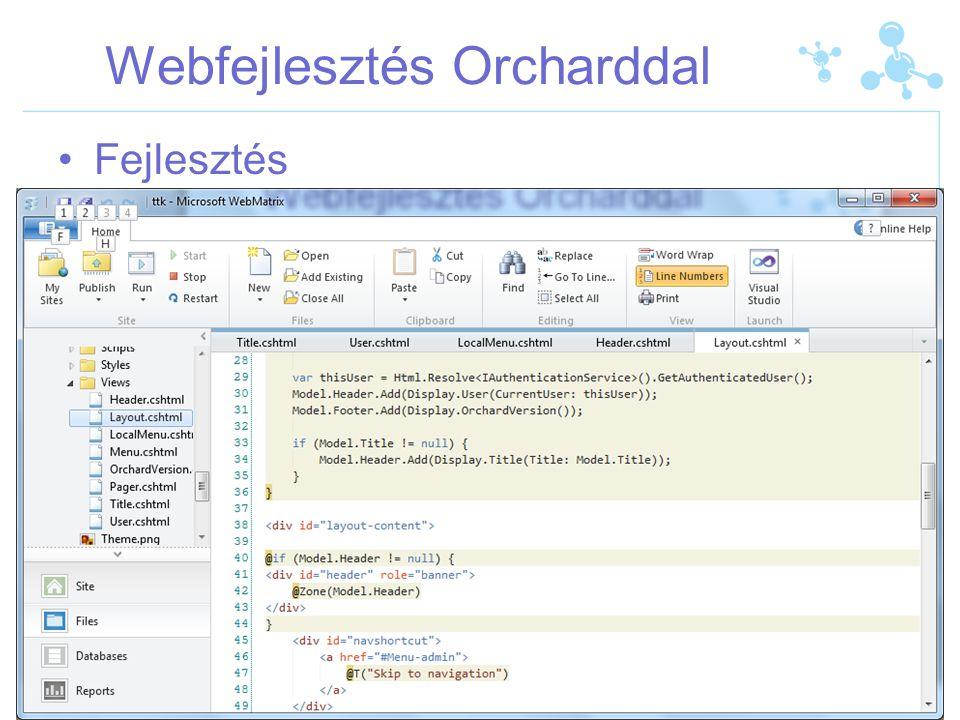 Webfejlesztés Orcharddal Végeredmény