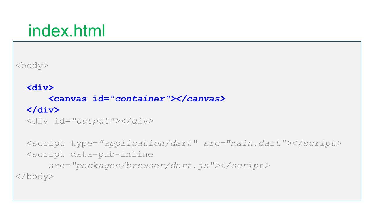 main.dart library ufoRaytracer; import dart:html ; import dart:web_gl as WebGL; import dart:typed_data ;