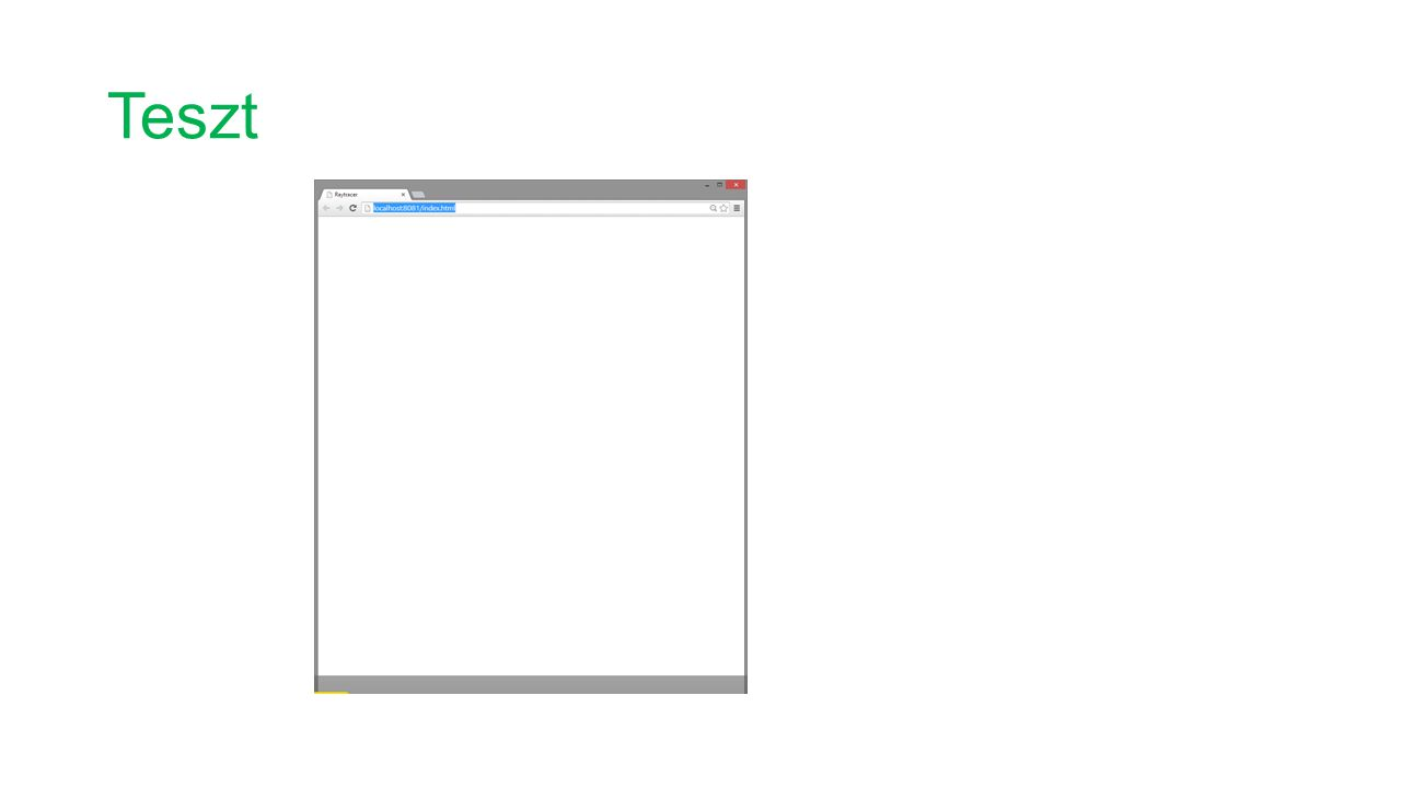 Canvas, context, rajzolás-esemény class App { WebGL.RenderingContext gl; CanvasElement canvas; int get width => canvas.width; int get height => canvas.height; void init(String canvasId) { canvas = querySelector(canvasId); gl = canvas.getContext( experimental-webgl ); if (gl == null) { canvas.parent.text = >>> Browser does not support WebGL <<< ; return; } // Measure the canvas element.