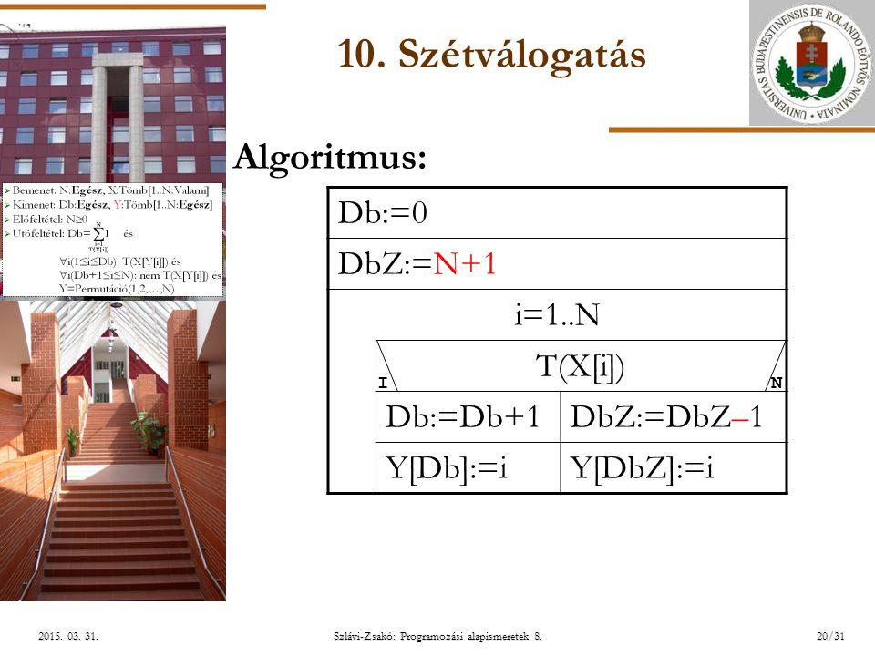 ELTE Szlávi-Zsakó: Programozási alapismeretek 8.20/312015.
